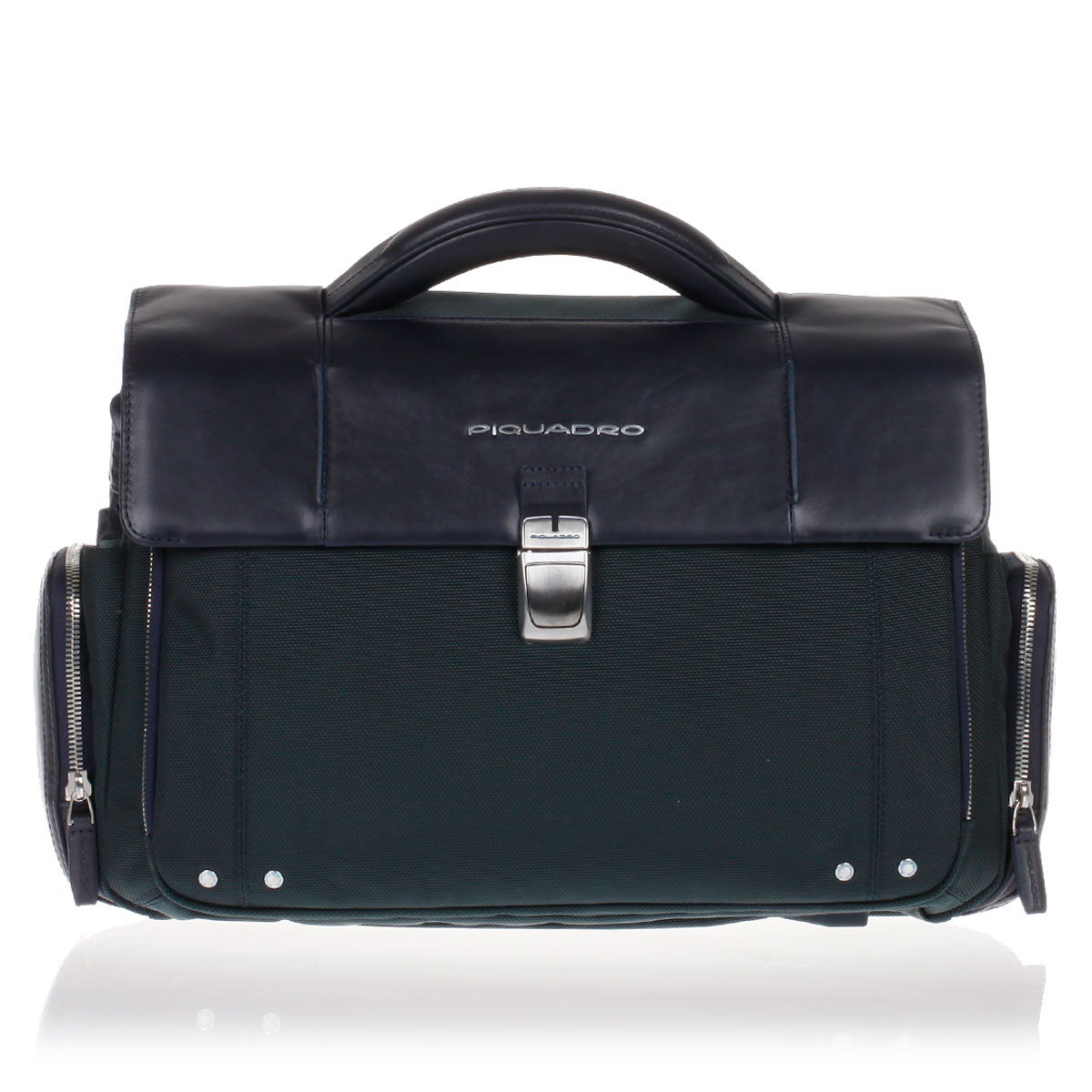 Piquadro men leather and fabric link pc briefcase for Piquadro amazon