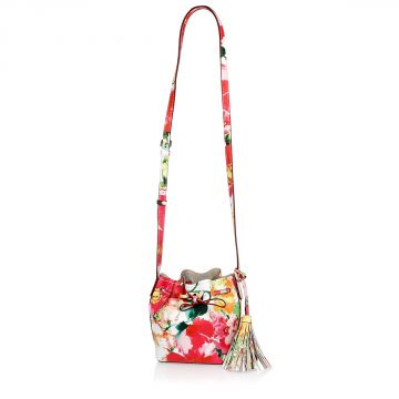 Floral Printed Bucket Bag