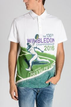 130th WIMBLEDON COLLECTION Coton Pique Polo Shirt