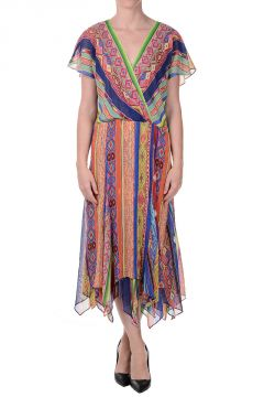 Ethnic Printed Silk ROSCOE Dress
