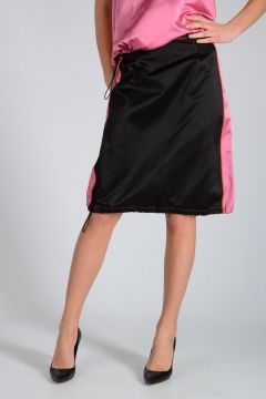Drawstring Silk Skirt