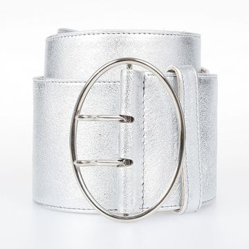 Metallized Leather Belt 70 mm