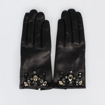 Embellished Nappa Leather Gloves