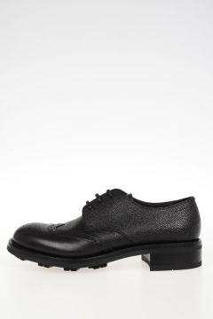Scarpe Derby in Pelle Brogue