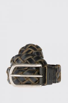 35 mm Woven Leather Belt