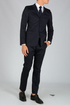 Single Breasted Cotton Satin Suit