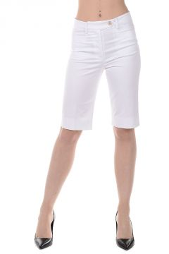 Pantalone Bermuda in Cotone Stretch