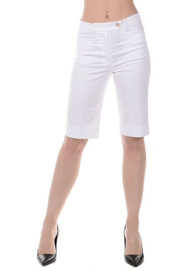 Stretch Cotton Bermuda Pants