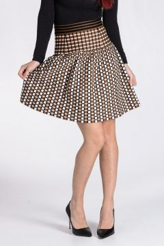 Geometric Patterned Knitted Skirt