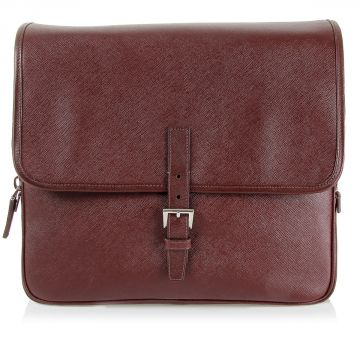 Shoulder Leather Bag with Flap