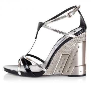Wedge Leather Sandal Shoes
