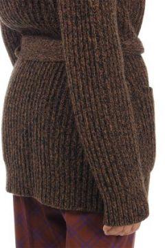 Cardigan in lana e kashmir con pelliccia