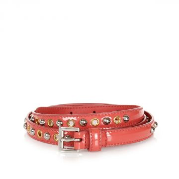 Studded Patent Leather Belt