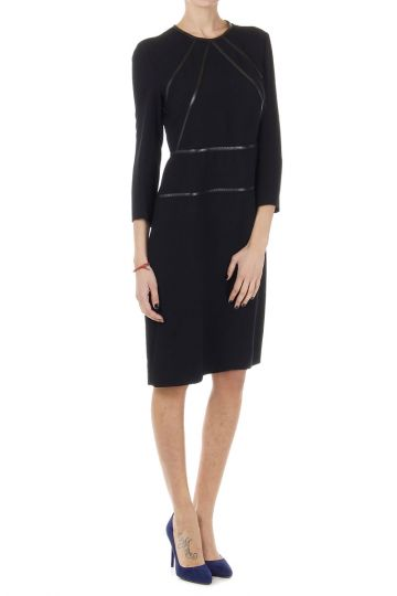 CADY dress with leather details