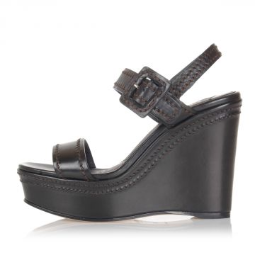 Wedge Leather Sandal