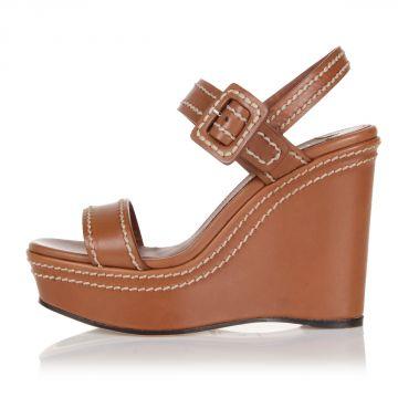 Sandalo in Pelle con Zeppa