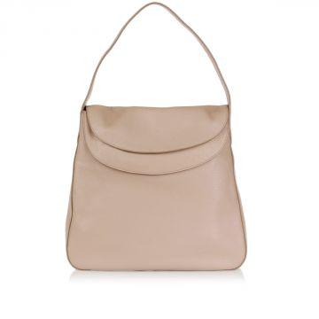 Grain Leather Hobo Bag