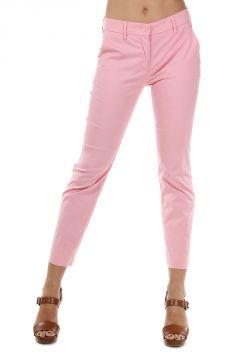 Pantaloni Capri in Popeline di Cotone Stretch