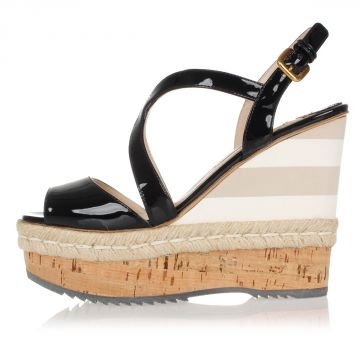 Patent Leather Sandal with Wedge 12.5 cm