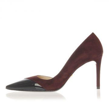 Suede Decolletes Heel 8.5 cm