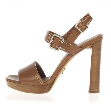 Leather Sandal Heel 12 cm