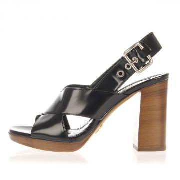 Sandalo in Pelle con Tacco 9.5 cm