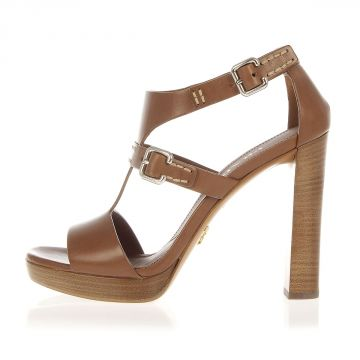 Leather Sandal with Heel 11.5 cm