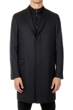Virgin Wool Twill Coat