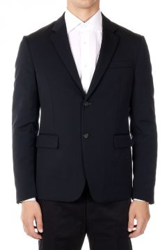 Stretch Virgin Wool Padded Blazer