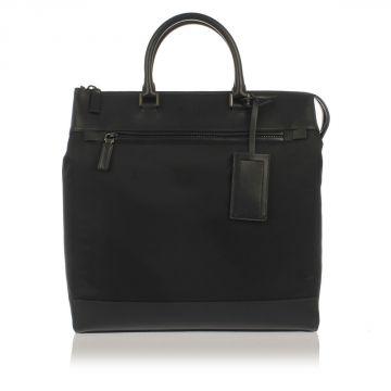 Shopping Bag in Pelle e Tessuto