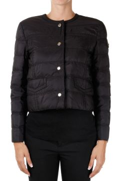 Collarless Nylon Down Padded jacket