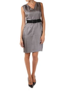 Silk TWILL Sheath Dress