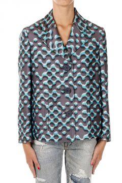 Single Breasted Wool & Silk Jacket