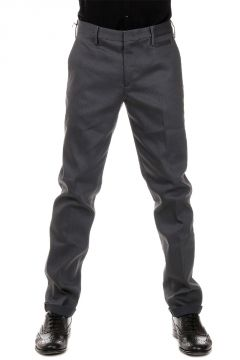 Tight Fit Mixed Cotton Trousers