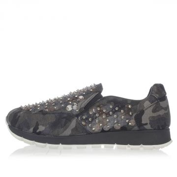 Camouflage Sneakers with Paillettes