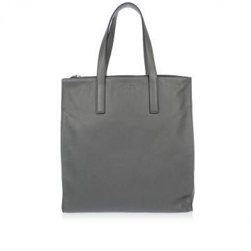 Saffiano Travel Leather Shopping Bag