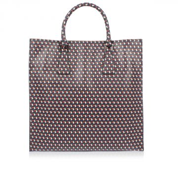 Saffiano Printed Leather Shopping Bag