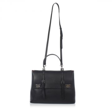 Leather Hand bag with Removable Strap