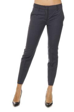Pantalone Gessato in Lana Vergine