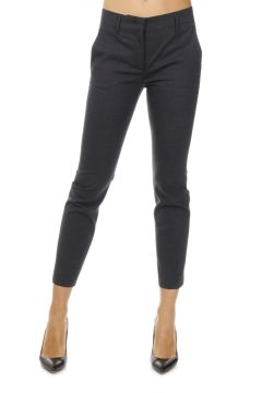 Stretch Wool Capri Pants