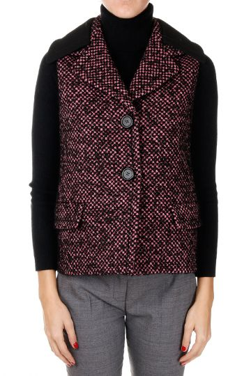 Virgin wool blend Single Breasted Gilet