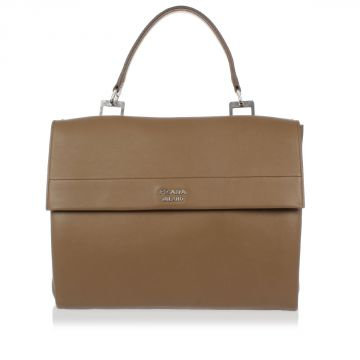Lux Leather Hand bag with Removable Strap