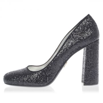 Leather and Glitter decollette 11 cm Heel