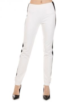 Stretch Pants With Lateral Band