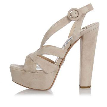 Sandalo in Pelle con Tacco 14 cm
