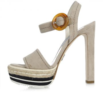 Suede Leather Pumps Shoes Sandals 14 cm