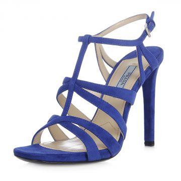 Sandalo in Pelle Scamosciata 11 cm
