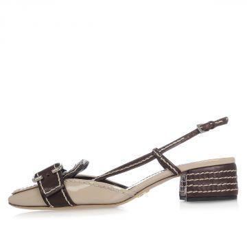 Sandalo in Pelle Vernice con tacco
