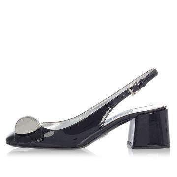 Sandalo in Vitello Verniciato 6 cm