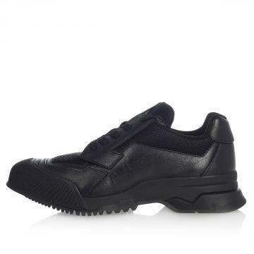 Sneaker in Tessuto e Pelle